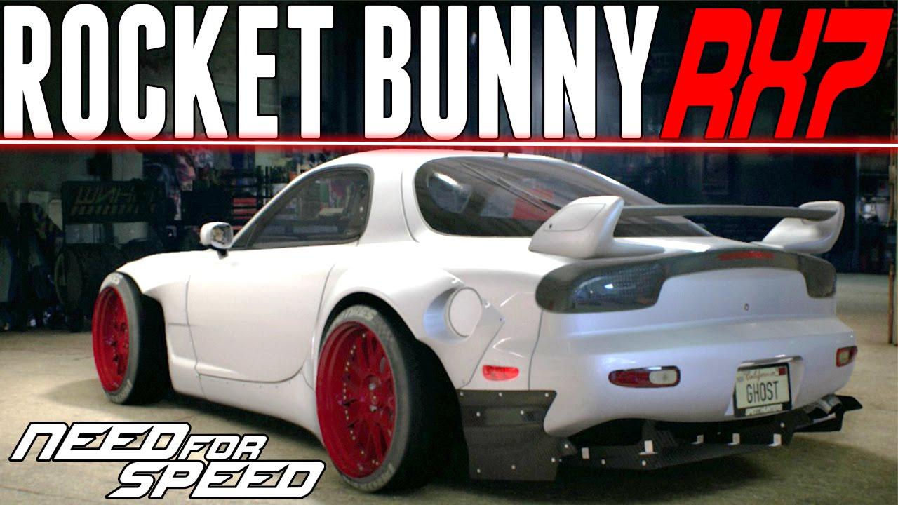 need for speed 2015 : rocket bunny mazda rx-7 customization & race