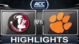 2013 ACC Football Highlights | Florida State vs Clemson | ACCDigitalNetwork
