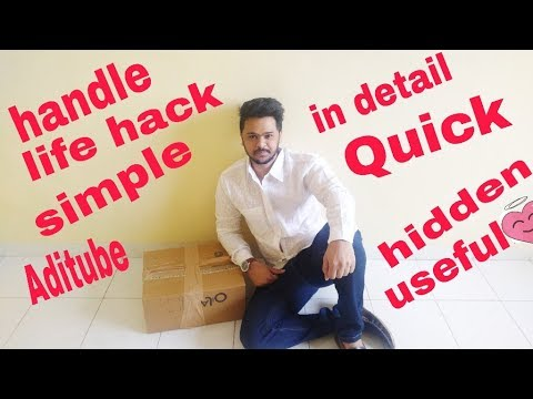 Life hack very useful handle from cello tape packaging tape easy quick  in detail DIY (Hindi)