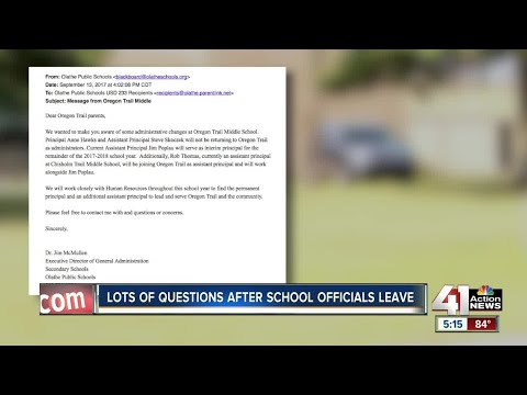 Oregon Trail Middle School principal, assistant principal not returning to school