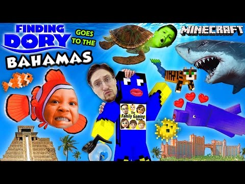 FINDING DORY in BAHAMAS! Minecraft FGTEEV Boys @ Atlantis Resort Hotel Water Slide Map w/ Nemo,Shark