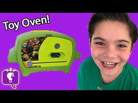 Wicked Cool TMNT Real PIZZA Oven Cooking! Turtles + HobbyKids Make/Watch Pizza Cook HobbyKidsTV