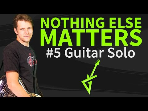 How To Play Nothing Else Matters Guitar Solo - Guitar Lesson & TAB