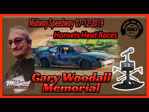 S03➜E332 - Gary Woodall Memorial - Hornets Heat Races - Lebanon Midway Speedway 07-12-2019