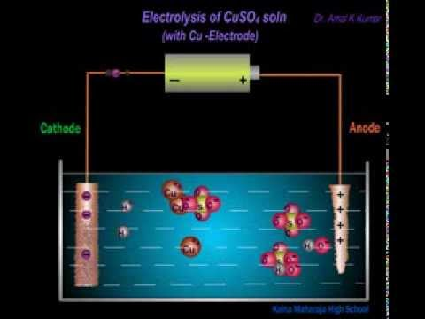 What happens on the cathode during the electrolysis of a