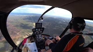 Just A Bit Of Turbulence In The Robinson R44 Helicopter