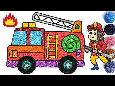 Belajar Menggambar Dan Mewarnai Mobil Pemadam Kebakaran Drawing And Coloring Fire Trucks For Kid Youtube