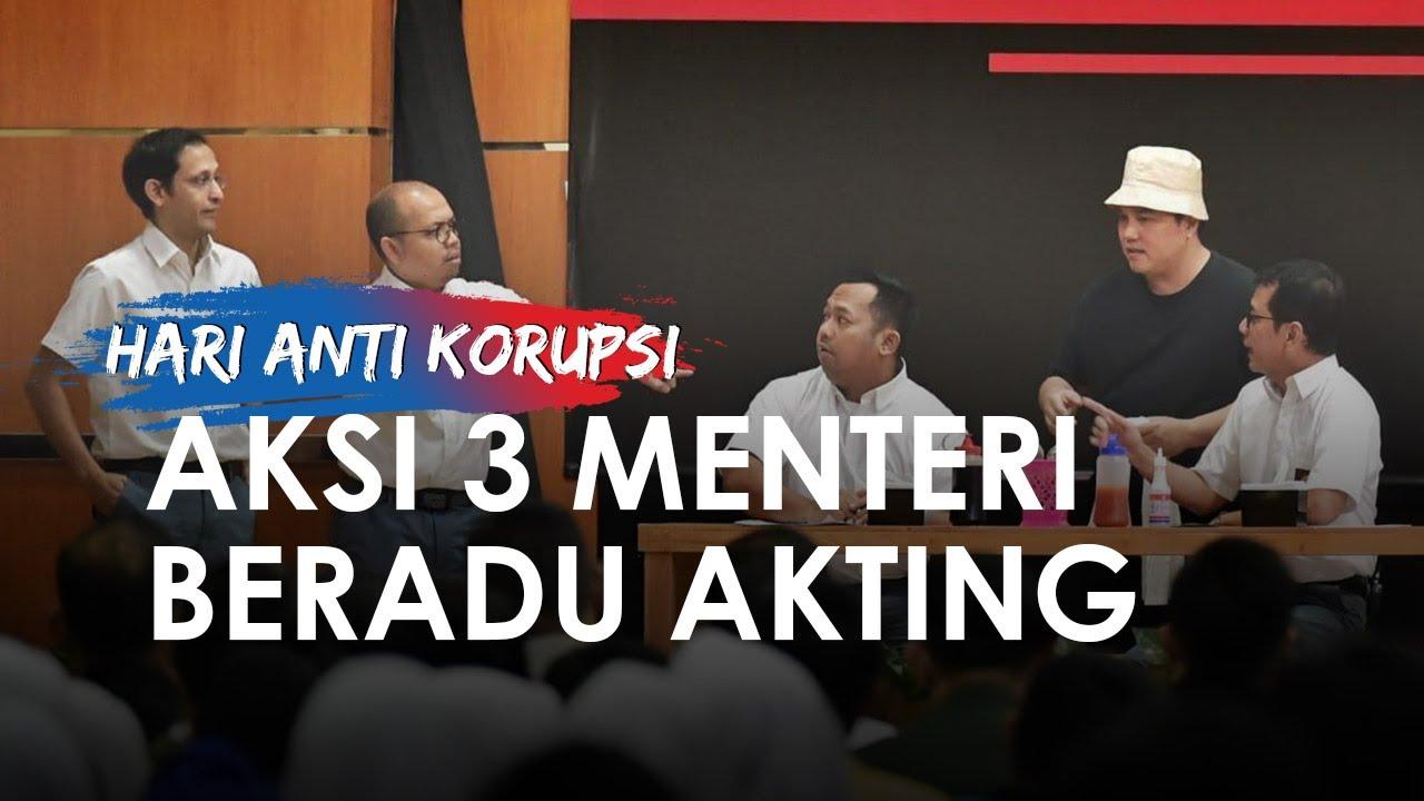 Video Lengkap Aksi 3 Menteri Berakting di Hari Anti-Korupsi, Bikin Jokowi Tertawa Terpingkal