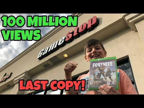 100,000,000 Views THANK YOU - Kids Found Last Fortnite Game At Gamestop