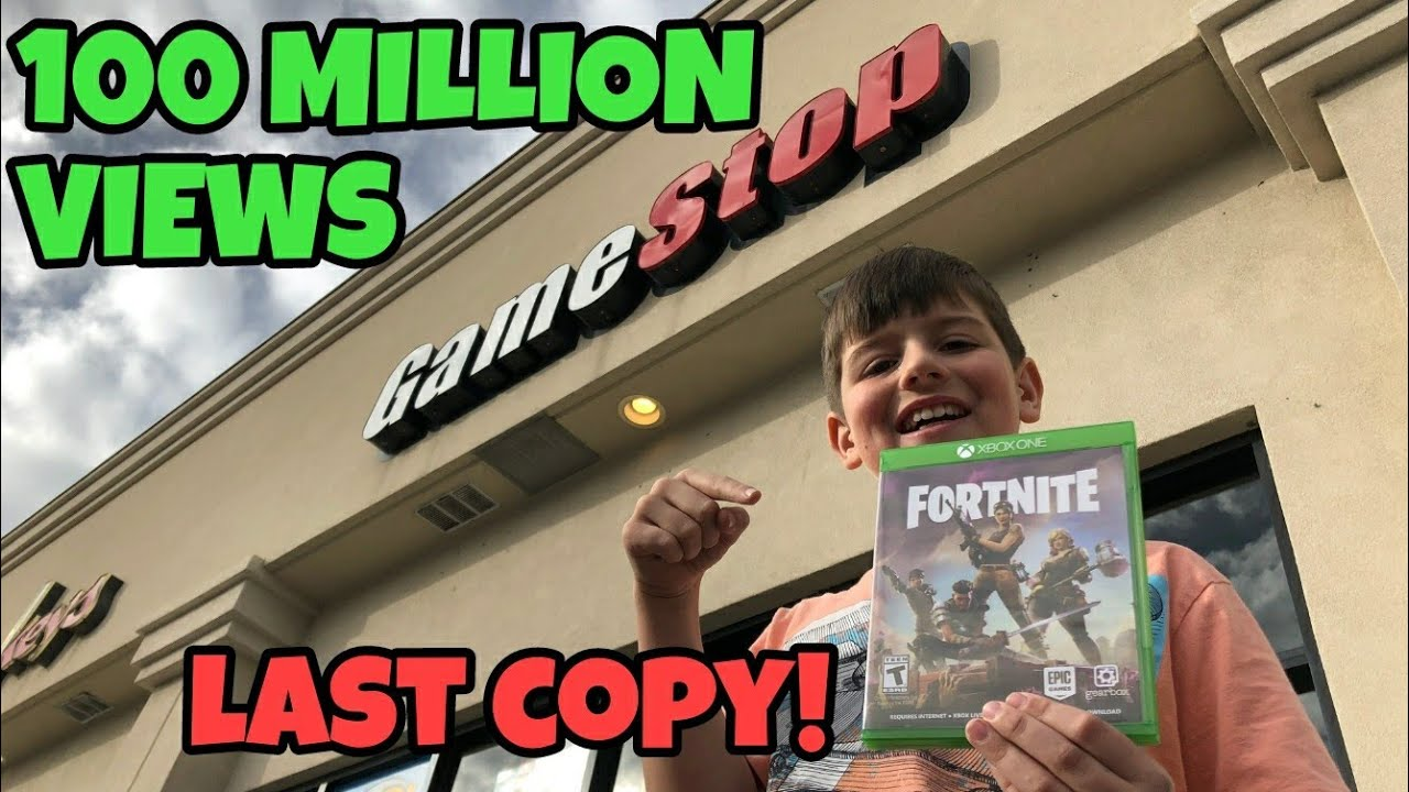 100 000 000 views thank you kids found last fortnite game at gamestop - fortnite game xbox one gamestop