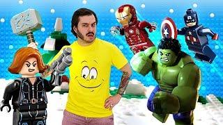 Видео шоу для детей - Нуб и супергерои Марвел! - Обзор игры Лего Мстители.