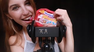ASMR TINGLY LOLLIPOP LICKING & STICKY FINGER TAPPING ~