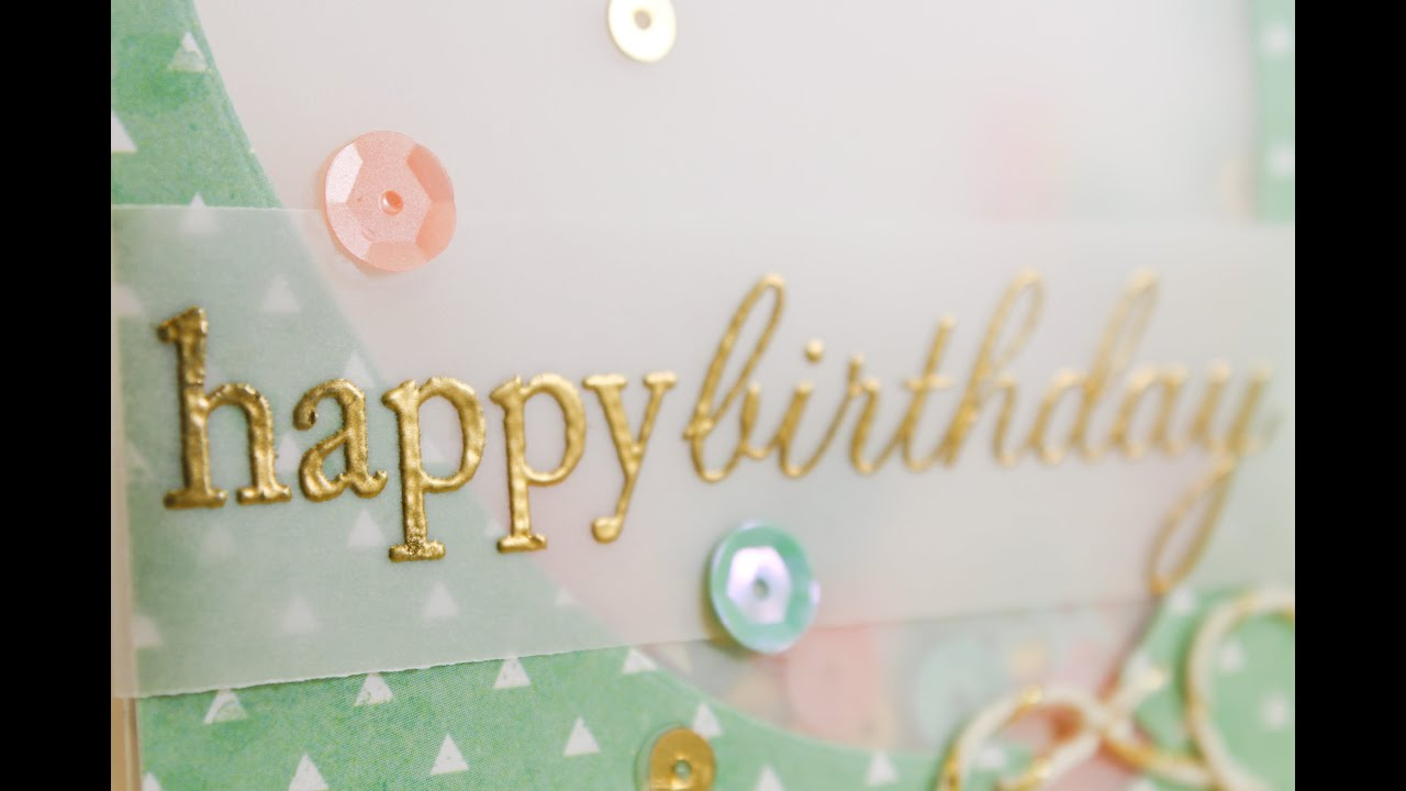 Balloon Shaker Card — Sprinkled With Glitter