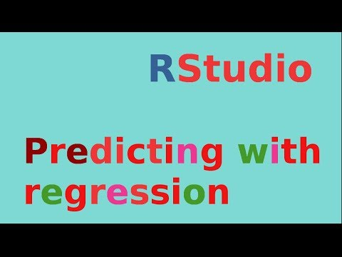 Rstudio: Making Predictions With Regression (simple Linear)