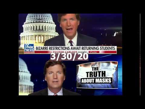 Tucker Carlson Contradicting Himself About Masks During COVID-19