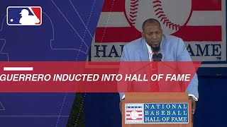 Guerrero is inducted into the MLB Hall of Fame