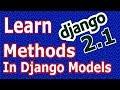 Django 2 Adding Custom Methods In Django Models #29