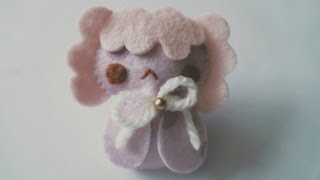 Diy Fashion: Decora Inspired Poodle Plushie Brooch Tutorial