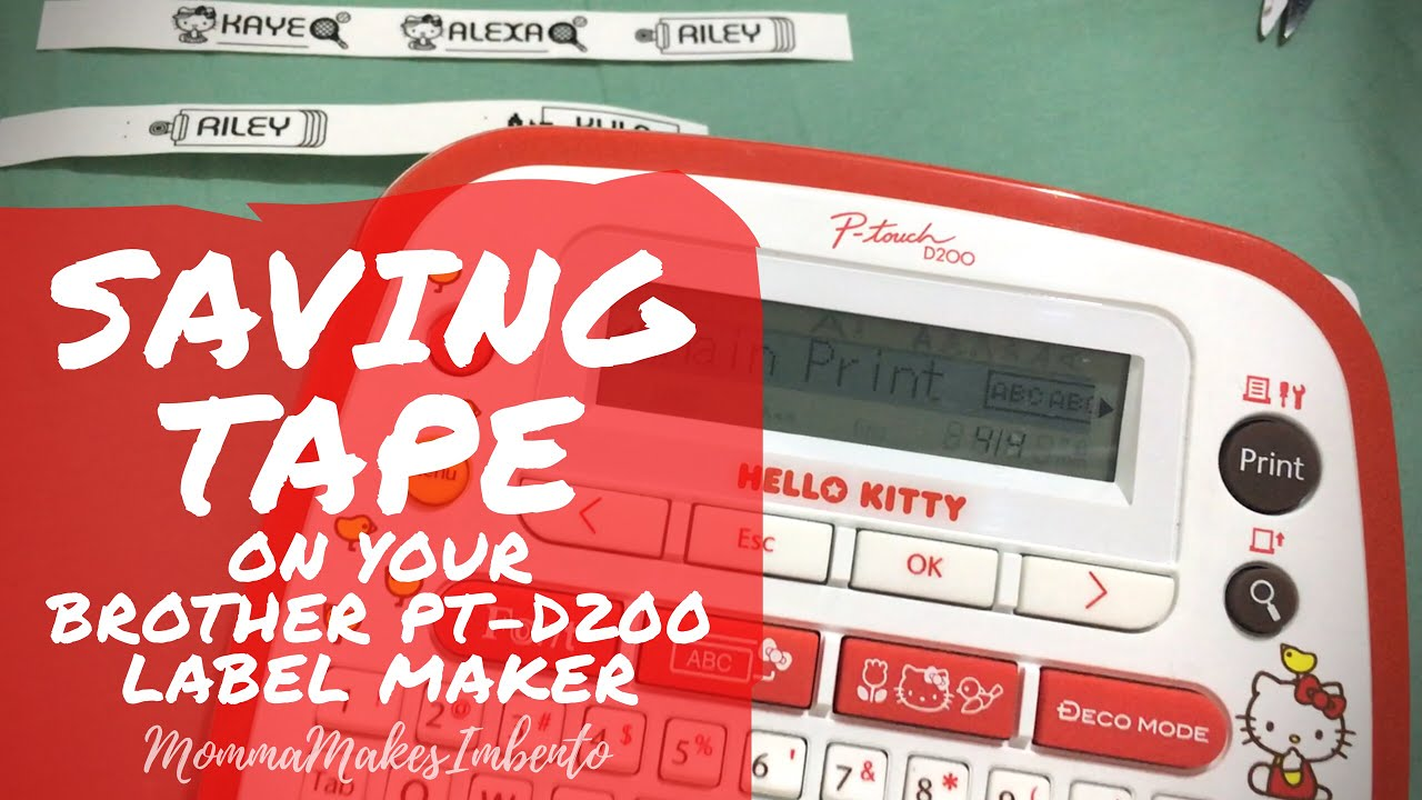 #KHacks | SAVING LABEL TAPE ON THE BROTHER PT-D200 LABEL MAKER!  (Philippines)