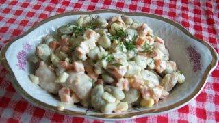 Салат из фасоли.
