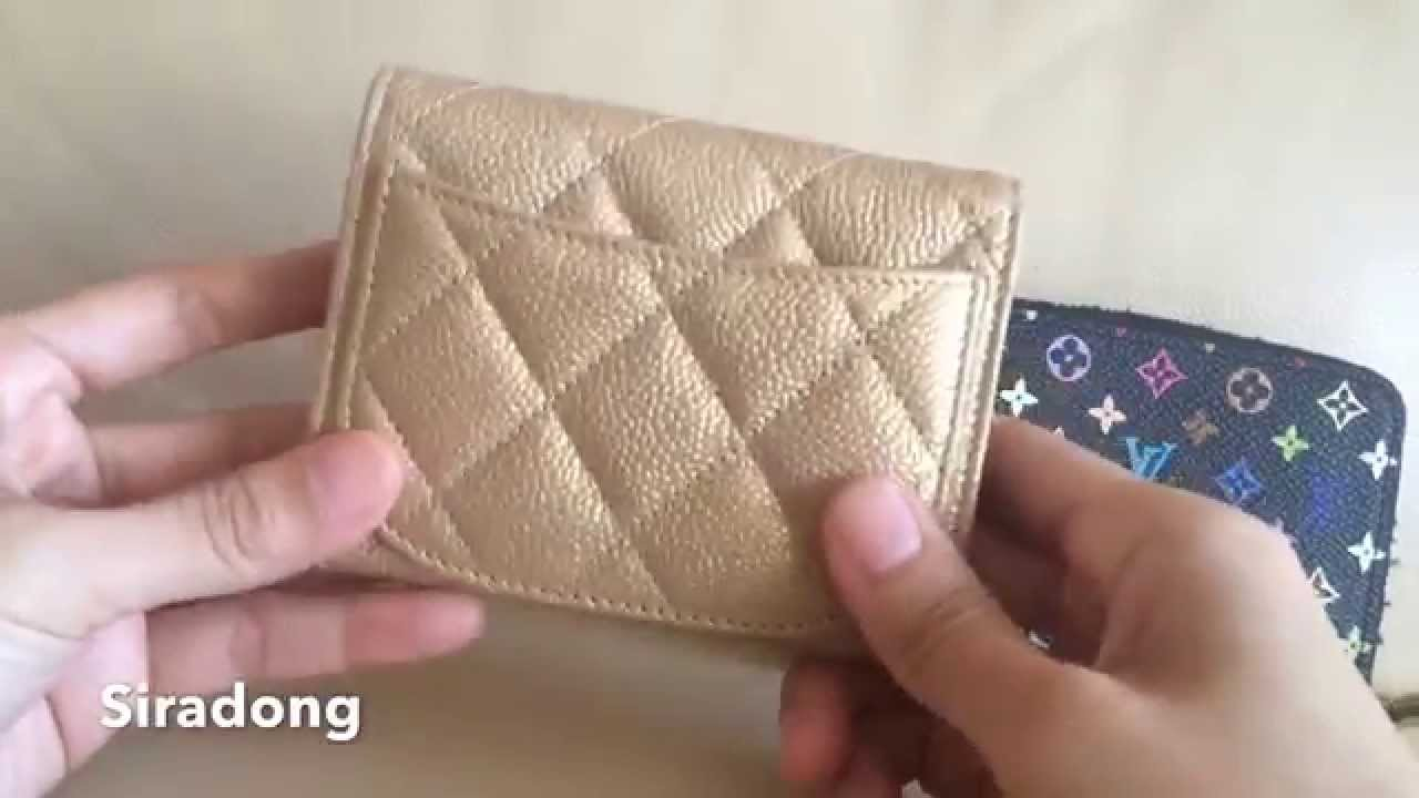 87ca1c97ae9358 Review: Chanel small wallet/card holder - YouTube