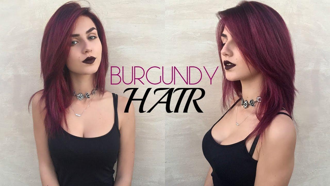DYEING MY HAIR BURGUNDY Red Maroon Hair Stella YouTube