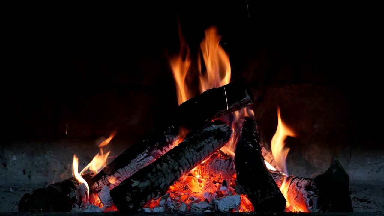fireplace fire burning 4k relaxing screensaver youtube