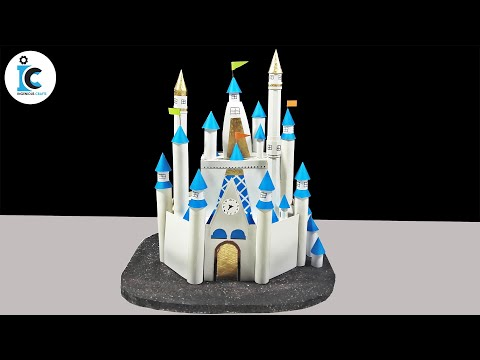 How To Make A Disney Castle At Home With Thermocol-DIY Disney Palace