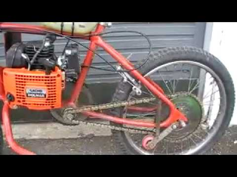 Homemade chainsaw bike not friction youtube homemade chainsaw bike not friction greentooth Images