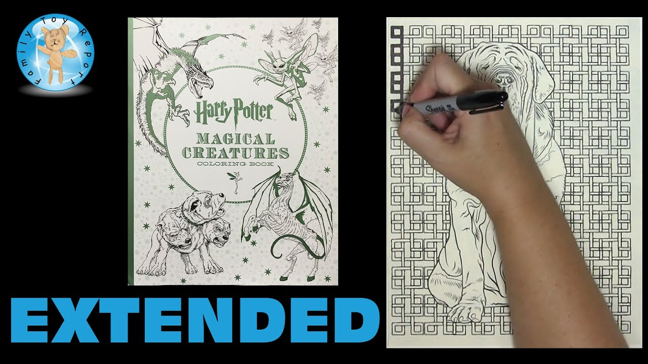 Harry Potter Magical Creatures Adult Coloring Book Dog Speed Color Extended