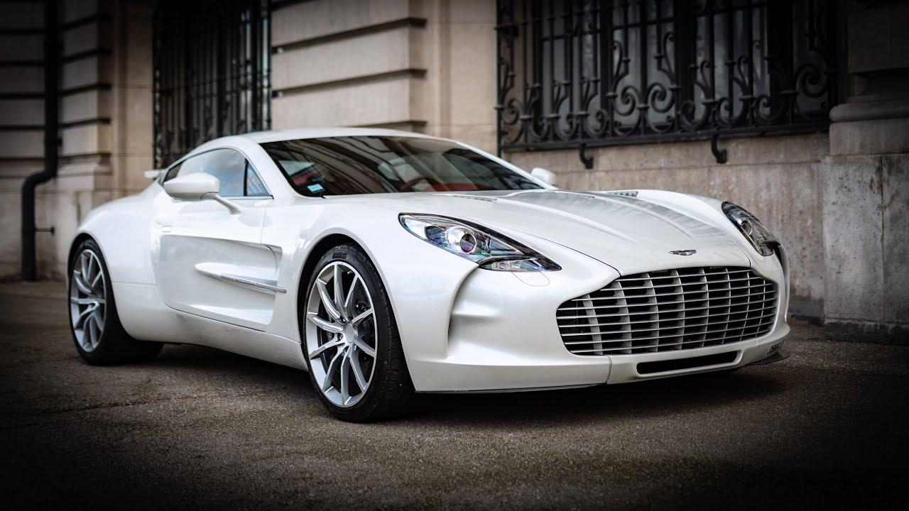 Aston Martin One77 Amazing Engine Sounds In Paris Youtube