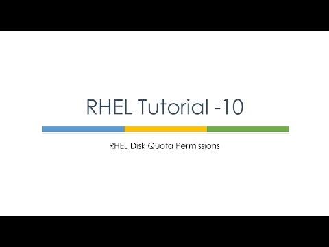 RHEL Tutorial 10 (Quota Permissions) : Linux Tutorials : Linux Quota Permission