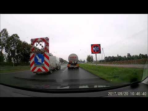 Wypadek 20 09 2017 - DK 7 Warszawa - Płońsk