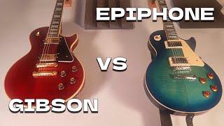 LES PAUL vs LES PAUL - Epiphone Standard & Gibson Custom - Guitar Tone Comparison ギブソン 検索動画 37