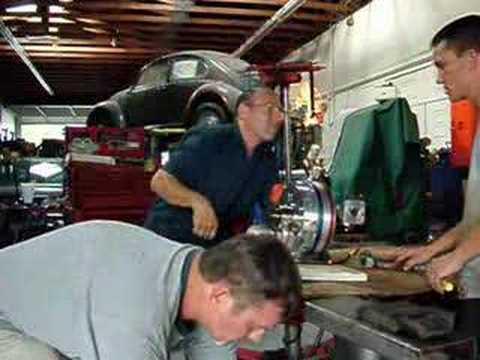 Hybrid Piston/Rotary Engine test run