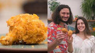 Frango Frito Vegano de Couve Flor