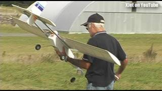 Horrible scratch-built RC plane crash (with a special guest from Star Trek)