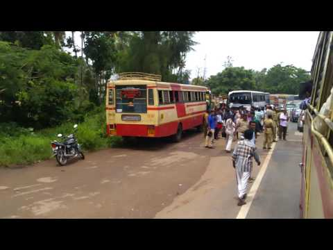KSRTC BUS ACCIDENT ON KOLLAM DISTRICT