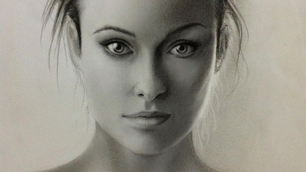 60 minutes realistic face graphite pencil sketching shading and blending