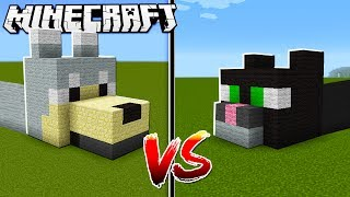 DOG HOUSE vs  CAT HOUSE in Minecraft!