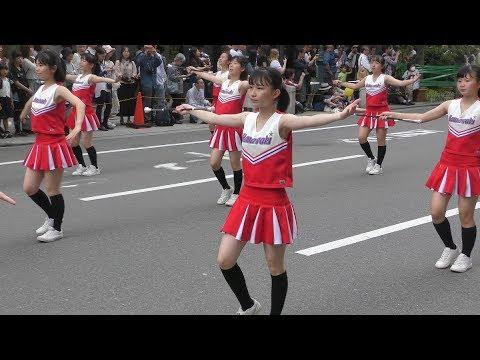 【4K】 神戸まつり 2019 中学生 バトン チア  浜脇中学校