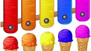 Helados con Bolas de Colores para Aprender Números y Colores | Campo Infantil