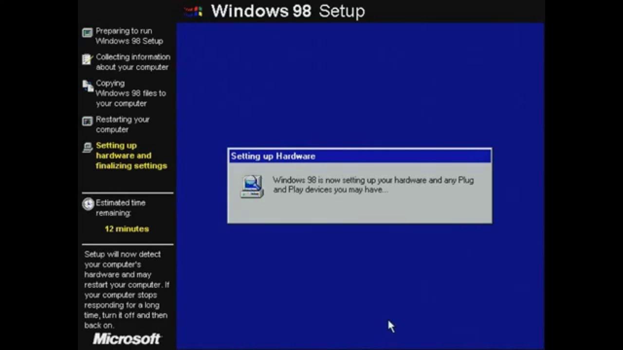 Windows 98 full install on VirtualBox