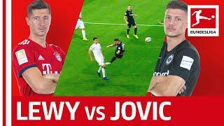 Who is the bundesliga's best striker?► sub now: https://redirect.bundesliga.com/_bwcsbayern against frankfurt also means robert lewandowski luka jovi...