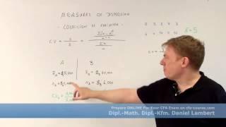 cfa measures of dispersion coefficient of variation - cfa-course.com