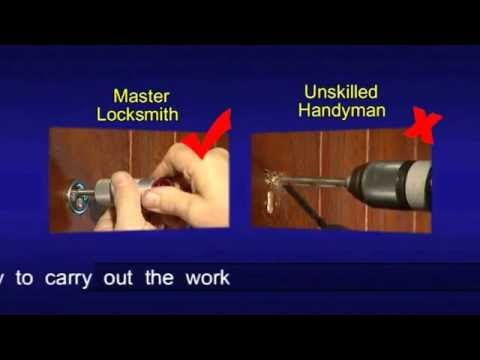 Good vs Bad locksmith work