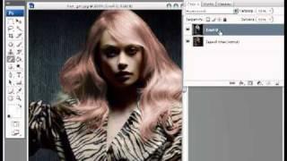 Уроки фотошопа CS3 - Изменяем цвет волос(Еще один способ смены цвета волос, я как-то показывал ранее, как это можно сделать, но тут будет интереснее..., 2011-06-01T16:38:31.000Z)