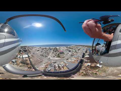 360 Chopper Video: HURRICANE MICHAEL storm surge aftermath in Mexico Beach, FL