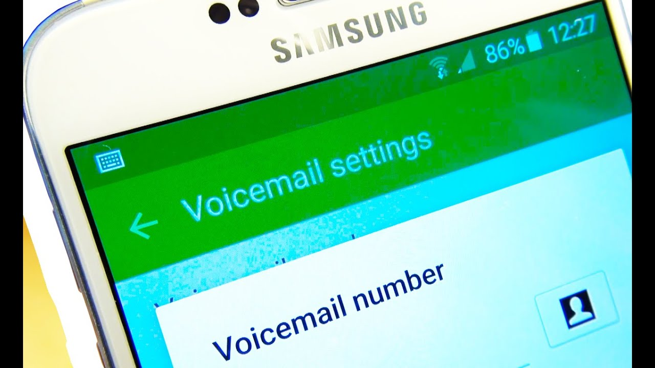 Samsung Galaxy S6 S6 Edge Voicemail Setup Youtube