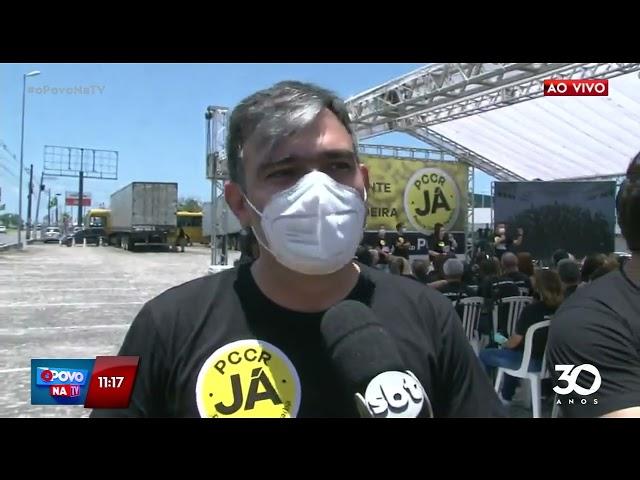 Policiais Civis se reúnem para cobrar PCCR da categoria - O Povo na TV